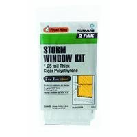 Frost King P712H Economy Outdoor Plastic Storm Window Kits 3-Foot by 6-Foot by 1.25-Millimeters -