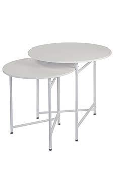SSWBasics Round Nesting Table White Tables