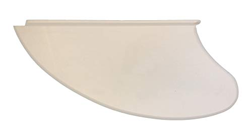 MBN Outboard Canoe Tracking Fin Skeg Keel Replacement Parts for Intex Inflatable Kayak Challenger & Explorer K1 & K2 | White Buoyant High-Density PVH | 10