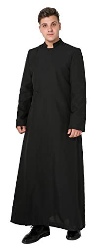 - Ivyrobes Unisex Adults Pulpit(Clergy) Anglican Cassock Large Black 51