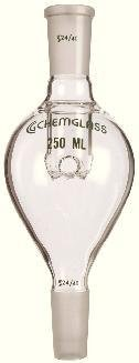 Chemglass CG-1319-01 Series CG-1319 Self Washing Rotary Evaporator Bump Trap, 100 mL, 24/40 Top Outer, 14/20 Lower Inner by Chemglass (Image #1)