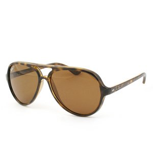 (Ray-Ban Women RB4125 59 CATS 5000 Tortoise,Yellow/Brown Sunglasses 59mm)