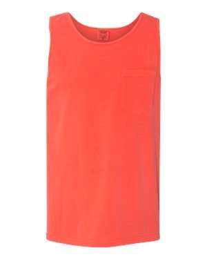 - Comfort Colors Chouinard 9330 Adult Tank Top with Pocket - Neon Red Orange PgmDye - XL