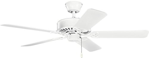 Kichler Lighting Kichler 330100MWH, Renew Matte White 50 Ceiling Fan