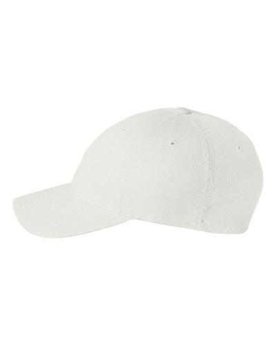 Flexfit Low-profile Soft-structured Garment Washed Cap (White, - Hat Fit White Flex