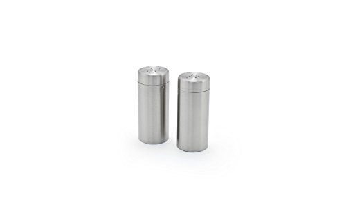 Front of the House TSP012BSS22 Round Salt & Pepper Set, 1'' Diameter, 3'' Height, 2.5 oz., Stainless Steel (Pack of 6) by Front of the House