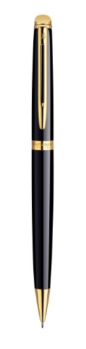 Trim Mechanical Pencil - Waterman Hemisphere Black Gold Trim Mechanical Pencil - Gift Boxed