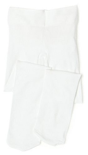 Ruffled Tights - Jefferies Socks Microfiber Rhumba Baby Tight White/White, 0-6 Months