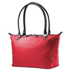 Jordyn Ladies Laptop Bag, 21.25 x 7.5 x 12, Nylon Red