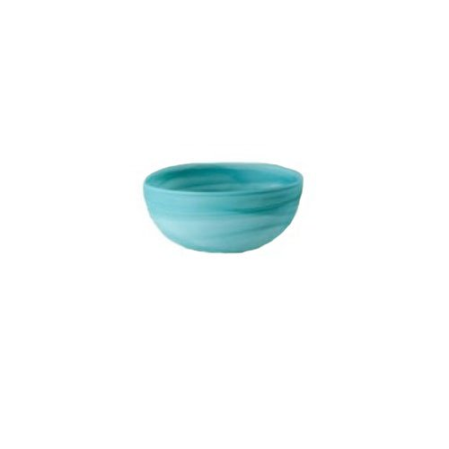Alabaster Bowl (Shiraleah Small Turquoise Frosted Alabaster Shallow Round Bowl)