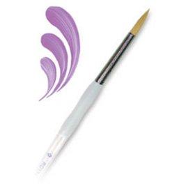 Soft-Grip Golden Taklon Round Brush-Size 10