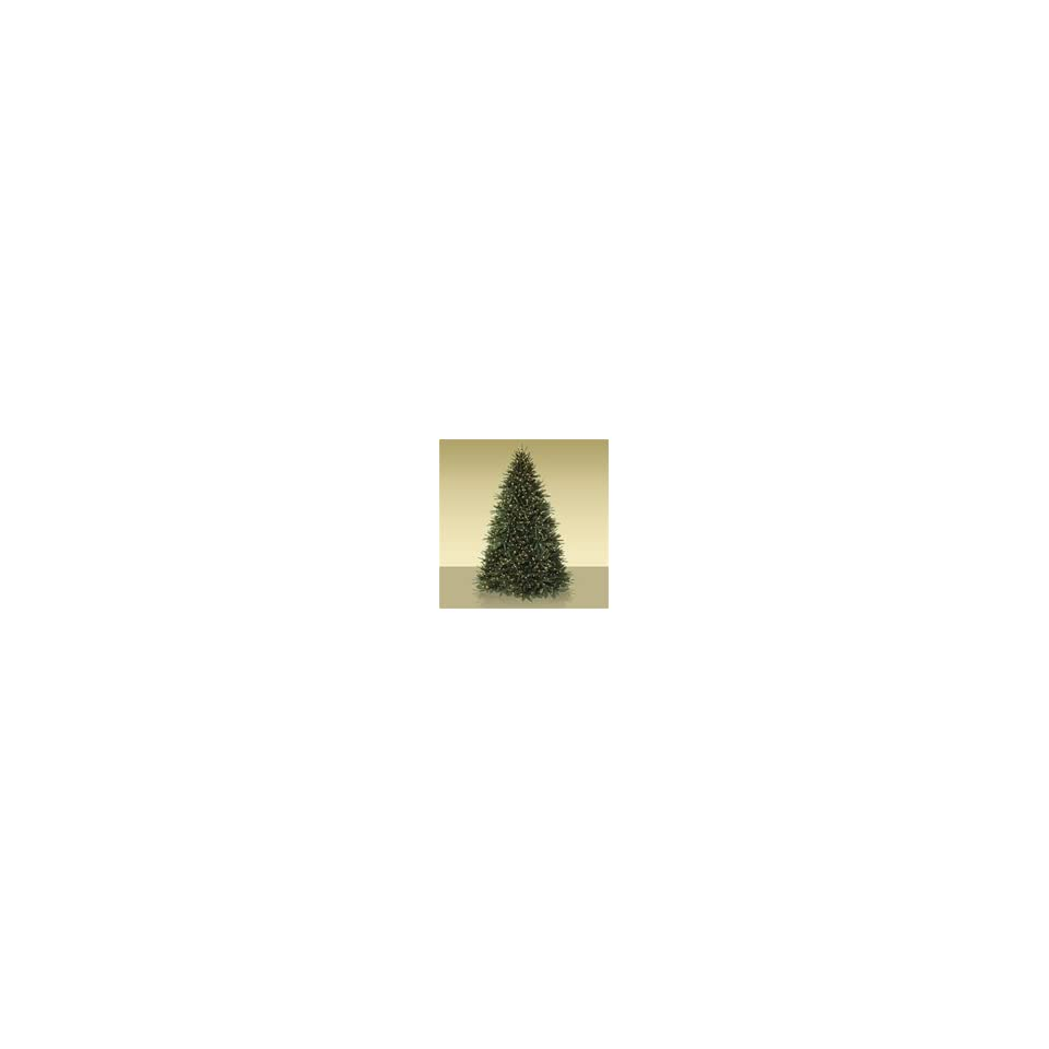 6.5 ft Black Spruce Artificial Christmas Tree with Candlelight LEDs