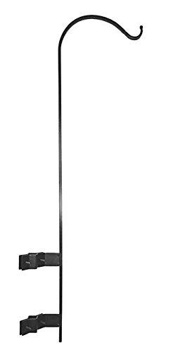 """BestNest Erva Vertical Deck Mount Hanger for 1"""" to 1.5"""" Rails, Black"""