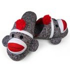 Sock Monkey Slippers Slip-on Medium