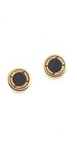 Logo Disc Earrings (Marc Jacobs Enamel Logo Disc Stud Earrings )