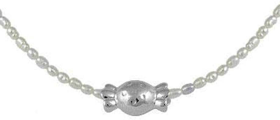 Freshwater rice shape pearls rice pearl with sterling silvers 925 chain
