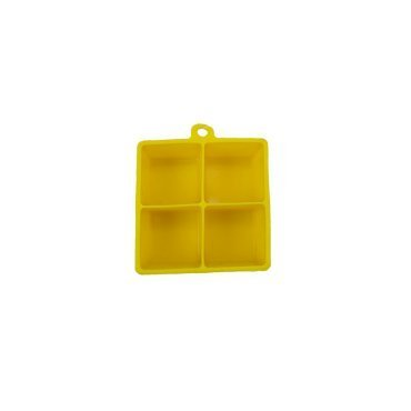 Kitchen Collection 4 Cavity Large 2'' Cube Silicone Ice Cube Tray 06306