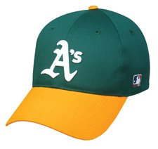 MLB YOUTH Oakland ATHLETICS A's Home Gold/Green Hat Cap Adjustable Velcro TWILL