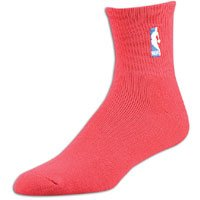 Socks Quarter For Bare Nba Feet - NBA Logoman Quarter Length Sock - Red - Red Large