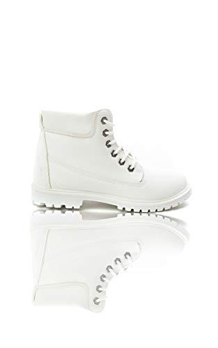 Ikrush Womens Kasey Desert Boots White