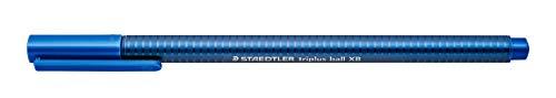 STAEDTLER Triplus Ball, Point Pen, Extra Bold Colored Ink Pens, Medium 1mm Tip, Blue, 437 XB-3 (437 XB-3 VE)