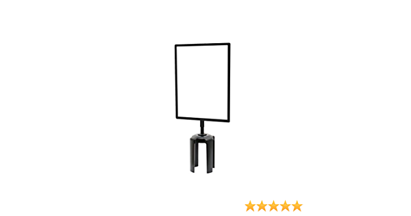 Horizontal Satin Chrome Heavy Duty Frame Traditional Base Lawrence metal 1310T-1S-1422HD-H Sign Stand 14 x 22