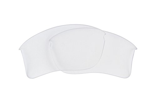 Best SEEK OPTICS Replacement Lenses Oakley FLAK JACKET XLJ - Crystal - Lenses Oakley Clear