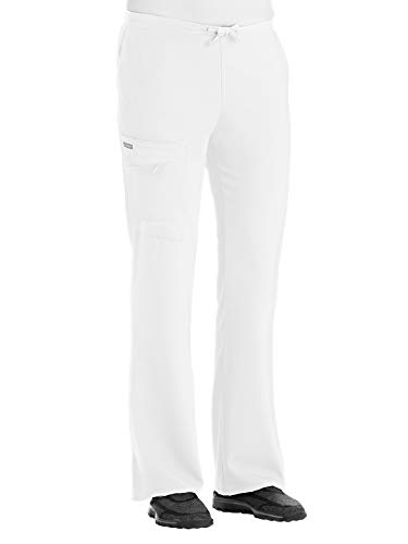 (Jockey 2249 Women's Scrub Pant - Comfort Guaranteed White M Petite)