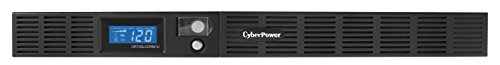 CyberPower OR700LCDRM1U Smart App LCD UPS System, 700VA/400W, 6 Outlets, AVR, 1U Rackmount ()
