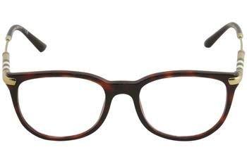 Burberry BE 2255Q 3657 Havana Bordeaux Plastic Square Eyeglasses, 51-18-140 ()