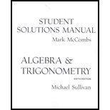 Algebra and Trigonometry 6th Edition (solution manual) 2003