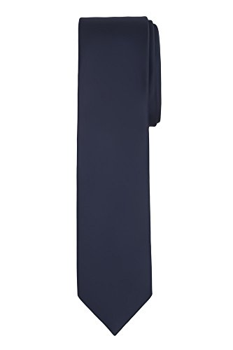 (Jacob Alexander Boy's Regular Self Tie Prep Solid Color Necktie - Navy)