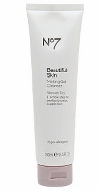 Boots No7 Beautiful Skin Melting Gel Cleanser, Normal / Dry 5 oz (150 ml)