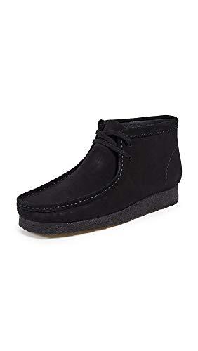 Clarks Originals Men's Wallabee Boot, Black Suede, 10.5 M