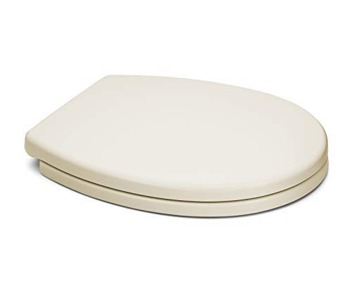 Bemis 500ec 006 Wood Round Toilet Seat With Easy Clean