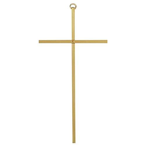 Dicksons Goldtone 8 Inch Metal Decorative Hanging Wall Cross