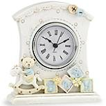 Lenox Baby Bear Baby Clock (Blue)