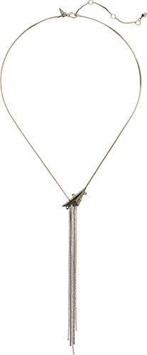 Bittar Alexis Pendant - Alexis Bittar Women's Box Chain Tassel Lariat Necklace 10k Gold/Ruthenium One Size