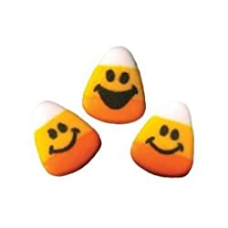 Lucks Candy Corn Faces Edible Dec Ons