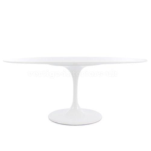 Eero Saarinen Style Oval Tulip Dining Table - White 78' X 47'