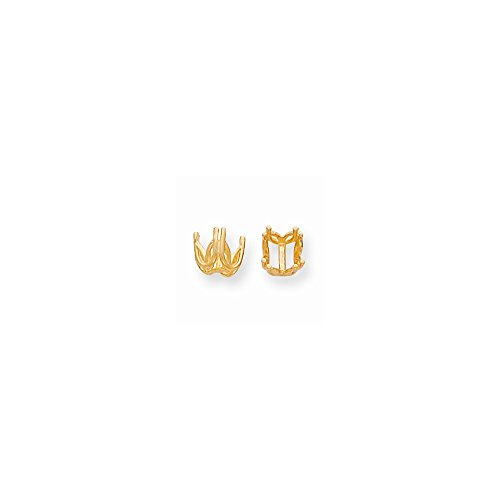 14k Yellow Gold Round Double 4-prong Fancy Basket 8.0mm Setting