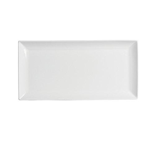 "Francessa - Classico 15"" x 7"" White Porcelain Rectangular Plate"