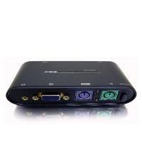LinXcel 2-Port PS/2 KVM Switch with Cables and Audio Support by LinXcel