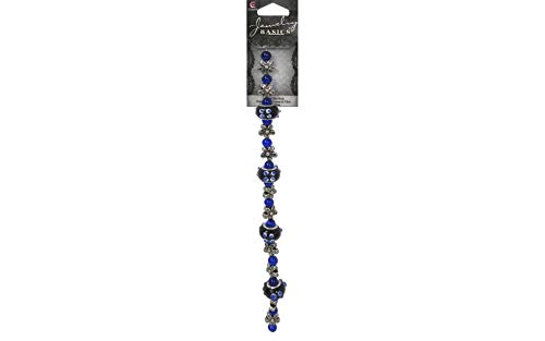 (Cousin Beyond Beautiful Bold Bead Strands, Fancy Round Mix, Blue, 8-Inch)