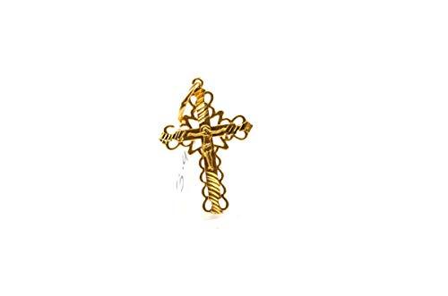 forever22karat 22k Elegant Charm Jesus Christ Cross Pendant 22k Plated p2014