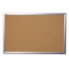 """AbilityOne - Quartet/SKILCRAFT – Natural Cork Bulletin Board –Aluminum Frame - 36"""" x 24"""" 7195-01-484-0005"""