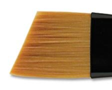 Creative Mark Beste Golden Taklon Hair Paint Brush Used For Any Watermedia, Acrylics, Watercolor, Oils, Fine Art, Heavy Bodied Media - Single Brush - [Angular Curve Maker - (Maker Brush)