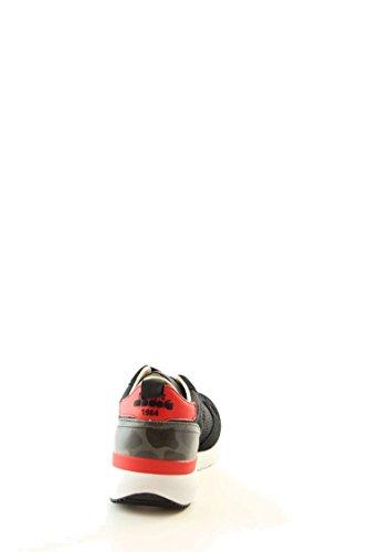 Calzature Uomo DIADORA trident evo light in pelle scamosciata e jacquard, suola in gomma ed E.V.A., plantare removibile in pelle negro