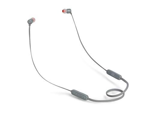 JBL Tune110BT In-Ear Bluetooth-Kopfhörer - Kabellose Ohrhörer mit integriertem Mikrofon - Musik Streaming bis zu 6 Stunden mit nur einer Akku-Ladung Grau