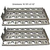 SH2571 (2-pack) Stainless Steel Heat Plate, Heat Shield Replacement for Lynx L27 Gas grill Models (16 7/8'' x 9 1/2'')